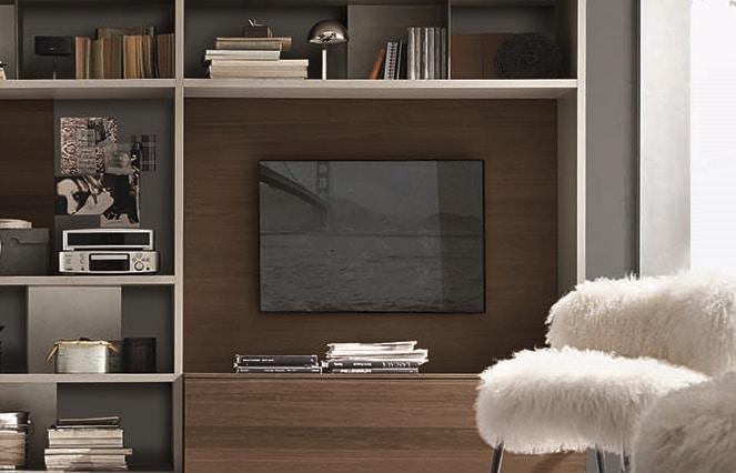 Meuble TV sur mesure moderne bois - ÉMÉA Ancenis Ameublement