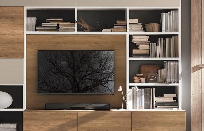 Meuble TV moderne bois - ÉMÉA Ancenis Ameublement