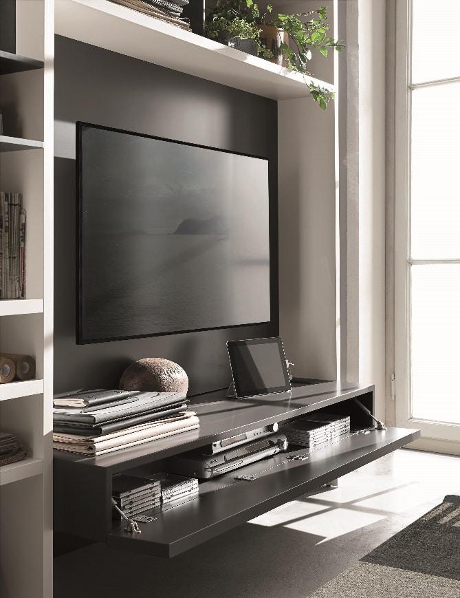 Meuble TV sur mesure moderne console - ÉMÉA Ancenis Ameublement