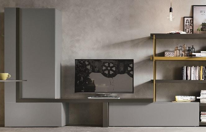 Meuble TV moderne gris - ÉMÉA Ancenis Ameublement