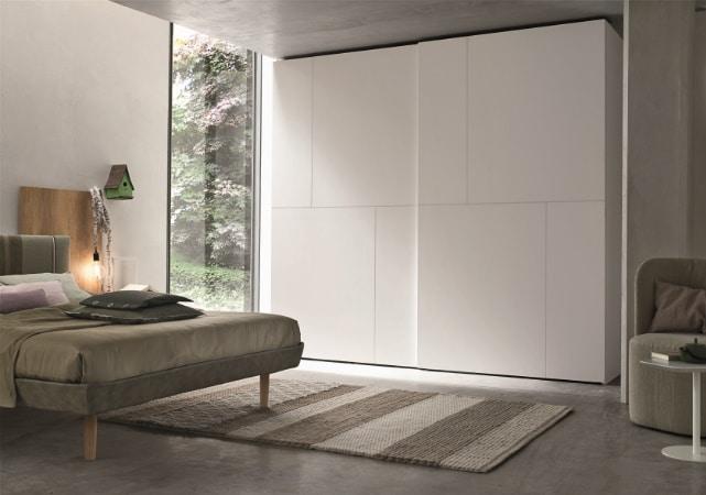 Porte de placard sur mesure chambre blanche design - ÉMÉA Ancenis