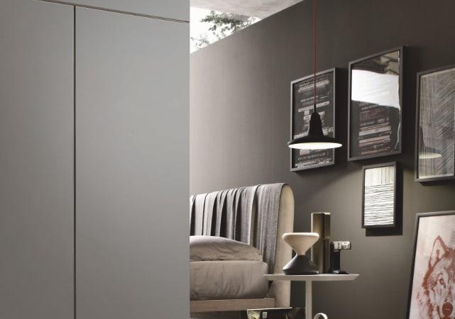 Porte de placard coulissante chambre simple gris - ÉMÉA Ancenis