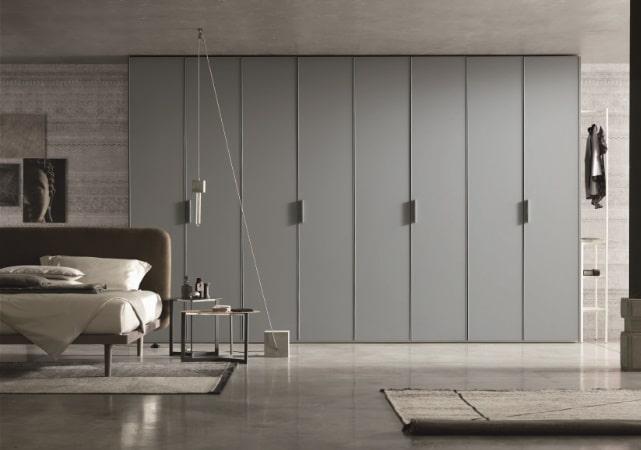 Porte de placard battante salon design grise - ÉMÉA Ancenis