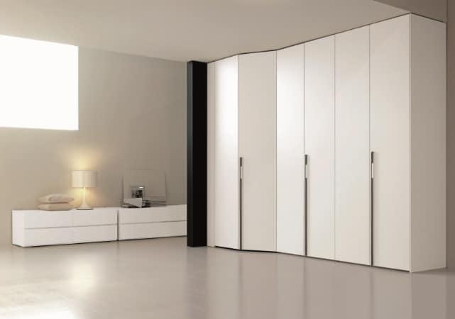 Porte de placard battante salon design blanc - ÉMÉA Ancenis